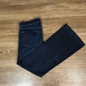 7 For All Man Kind Dojo Wide Leg Jeans Size 30x30